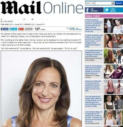 daily mail feature on hair extensions Vixen & Blush