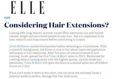 Elle Magazine features Vixen & Blush