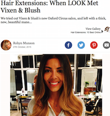 vixen & blush hair extensions review