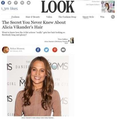 alicia vikander look hair extensions copy